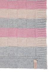 Элитный плед детский Lux 218 розовый-белый-серый от Luxberry