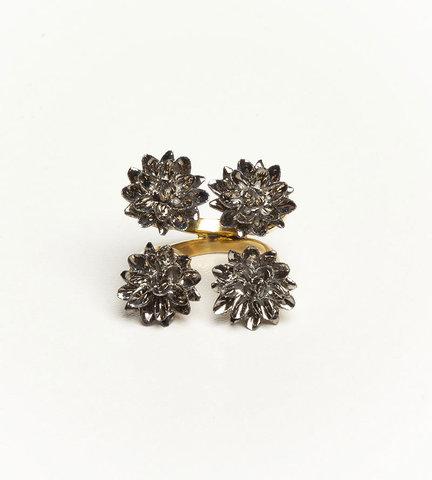 Кольцо из фарфора Four Flower