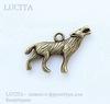 """Подвеска """"Волк"""" 3D (цвет - античная бронза) 26х18 мм ()"""