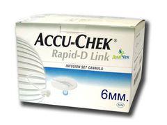 Набор инфузионный  Акку-Чек Рапид-Д Линк с иглой 6мм, Accu-Chek Rapid-D Link Canula 6