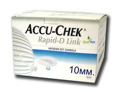 Набор инфузионный  Акку-Чек Рапид-Д Линк с иглой 10мм Accu-Chek Rapid-D Link  Cannula 10 - 25 шт