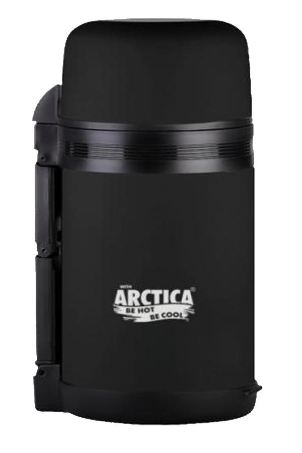 Термос универсальный (для еды и напитков) Арктика (1 л.) с широким горлом, черный матовый