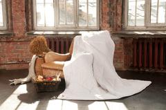Элитное одеяло легкое 150х200 Linenwash от German Grass