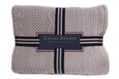 Элитный плед вязаный Bradford розовый от Casual Avenue
