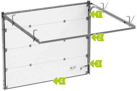 Секционные ворота Alutech ШхВ 3000х2585 мм