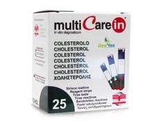Тест-полоски Мультикэа ин (Multicare-in)  Холестерин №25