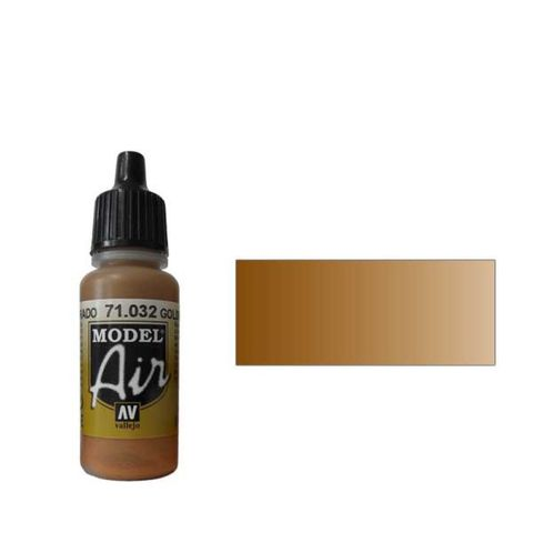 032 Краска Model Air Золотисто-коричневый (Golden Brown) укрывистый, 17мл