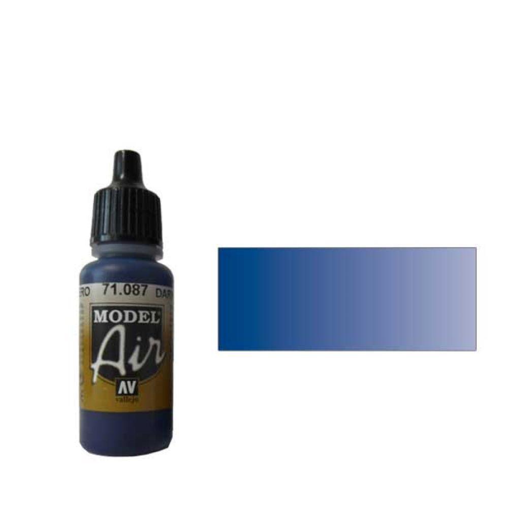087 Краска Model Air Морской синий темный (Steel Blue) укрывистый, 17мл