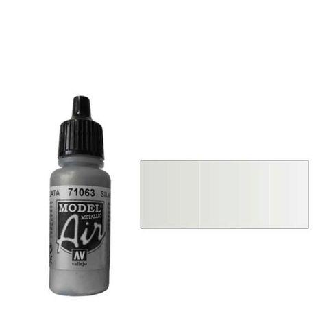 063 Краска Model Air Серебро (Silver RLM01) металлик, 17мл