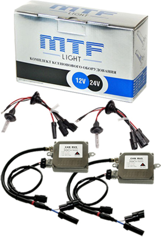 Комплект би-ксенона MTF Light 50W H4 (5000K)