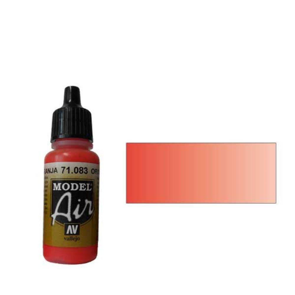 083 Краска Model Air Оранжевый (Orange) укрывистый, 17мл