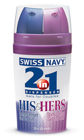 Лубрикант, на водной основе, SWISS NAVY 2В1  HIS AND HERS  (50 мл)