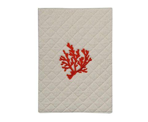Элитный коврик для ванной Corallo бежевый с коралловой вышивкой от Old Florence