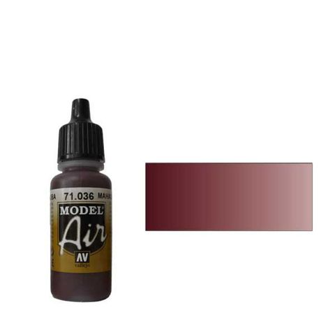 036 Краска Model Air Махагон (Mahogany) укрывистый, 17мл