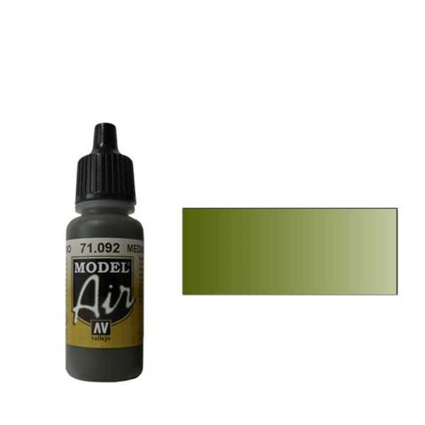 092 Краска Model Air Оливковый средний (Medium Olive) укрывистый, 17мл