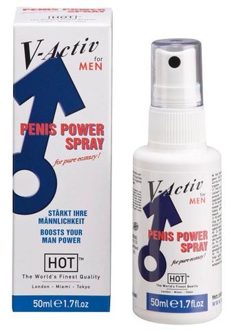 Мужской стимулирующий спрей для улучшения эрекции HOT V-activ (50 мл)