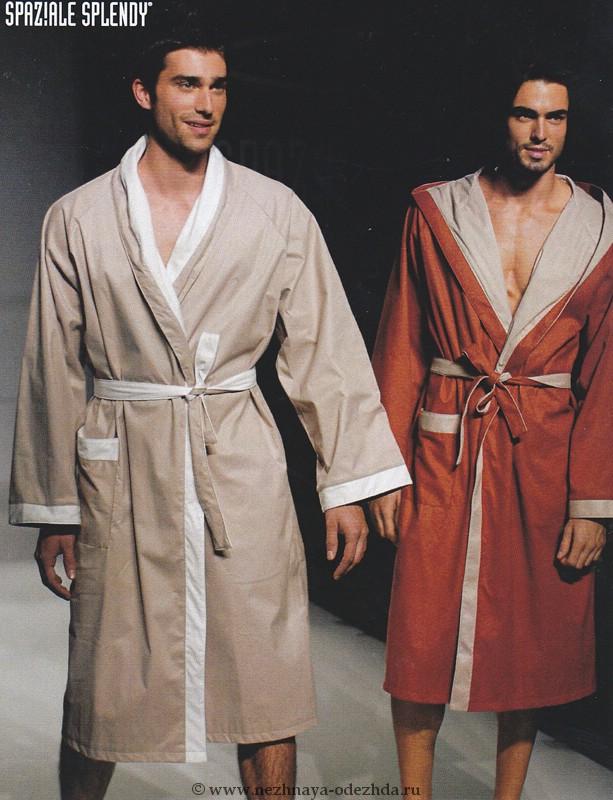 Двусторонний халат без капюшона Spaziale Splendy (Мужские халаты)