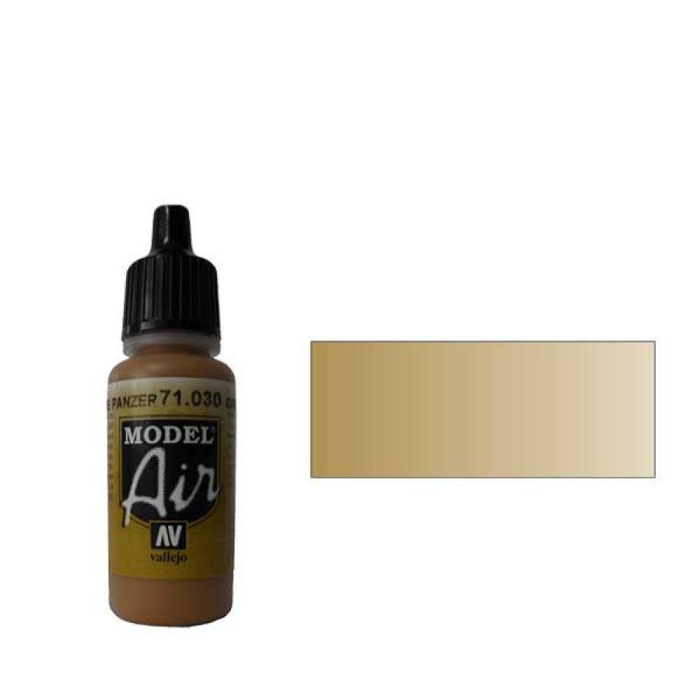 030 Краска Model Air Зелено-коричневый (Green Brown) укрывистый, 17мл