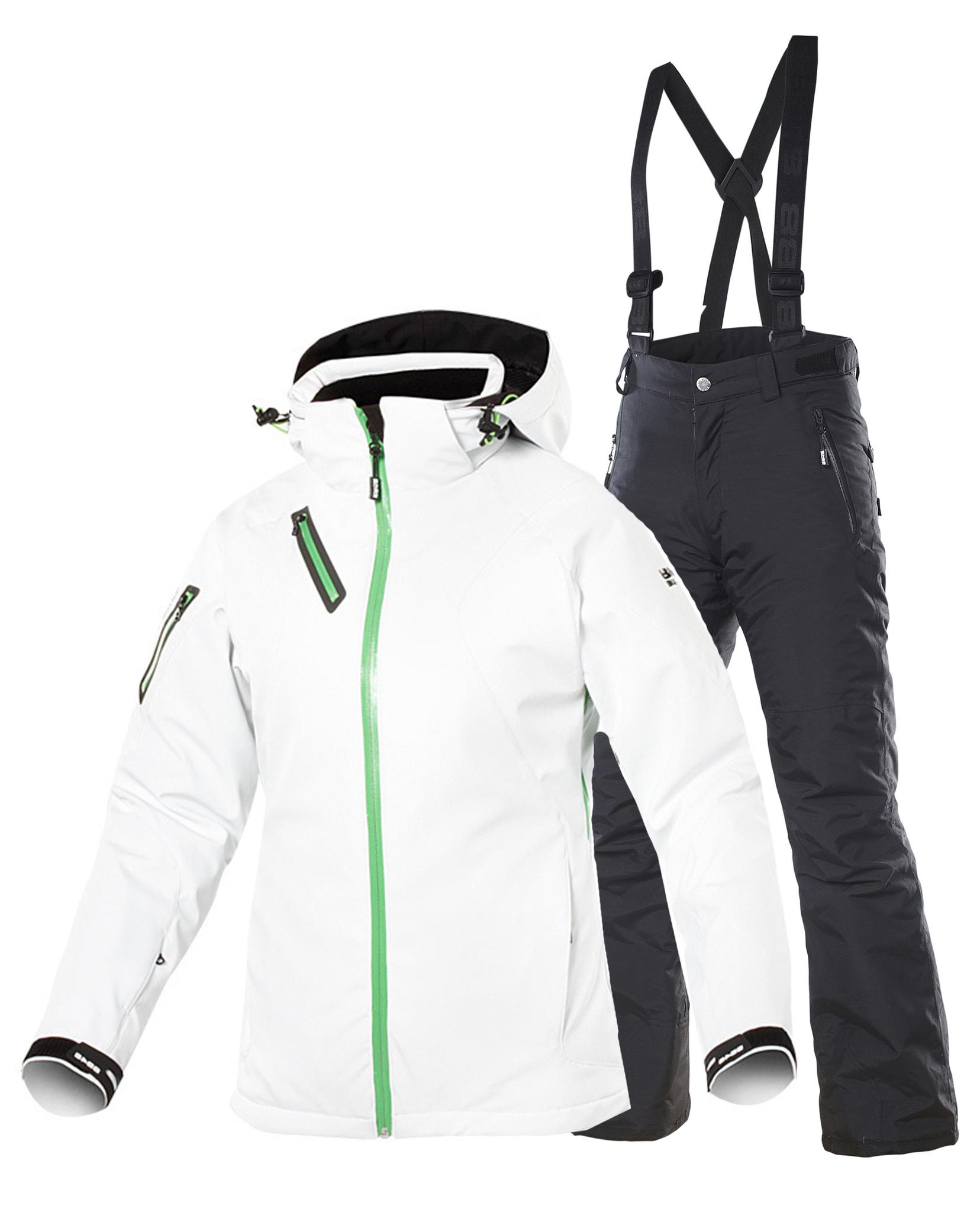 Горнолыжный костюм женский белый доставка