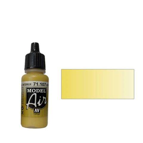 107 Краска Model Air US Желтый Интерьерный (US Interior Yellow) укрывистый, 17 мл