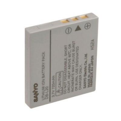 Аккумулятор Sanyo DB-L20 Батарея для фотоаппарата Xacti DMX-CG6-P, DMX-C6(S), DMX-C6(K), VPC-E6 EX, DSC-E6, VPC-J4, VPC-C5, DMX-CG6-S, DMX-CG65, VPC-E6, VPC-C4, VPC-C1, DSC-C5, VPC-C40, DMX-CA6, DMX-CG6, DSC-C4i DSC-J4, DMX-C1, VPC-CG6, VPC-C5GX