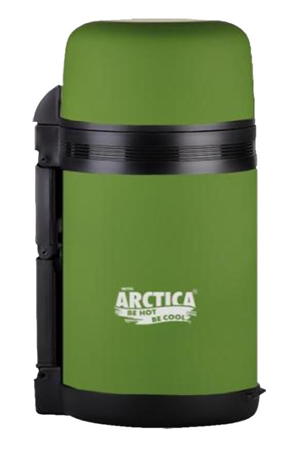 Термос универсальный (для еды и напитков) Арктика (1 л.) с широким горлом, болотный матовый