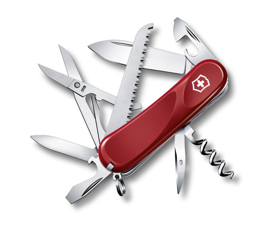 Нож Victorinox Evolution 17, 85 мм, 15 функ, красный