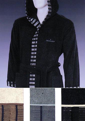 Элитный махровый халат Master ваниль от Trussardi