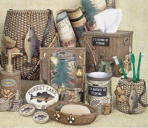 Стакан для зубной пасты Rather Be Fishing от Avanti