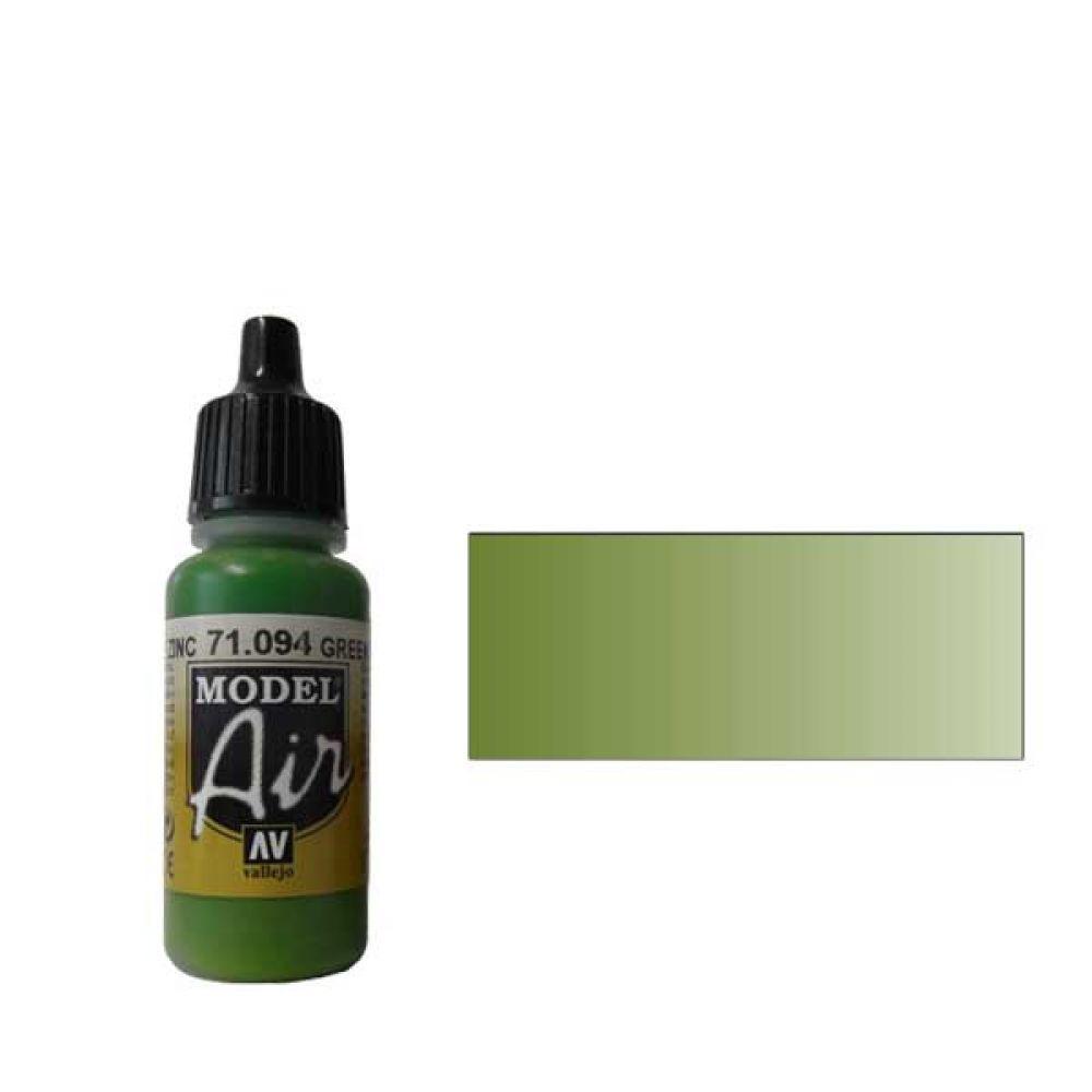 094 Краска Model Air Зелёный Цинковый Хром (Green Zinc Chromate) укрывистый, 17мл