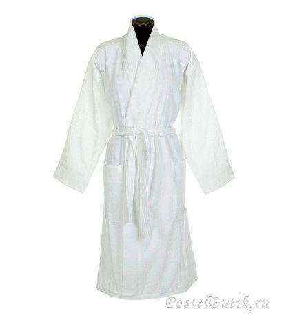Элитный халат-кимоно велюровый Logo белый от Roberto Cavalli