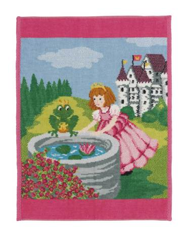 Полотенце детское 37x50 Feiler Marchen Frog King 126 розовое