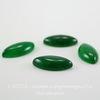 Кабошон Жадеит зеленый (тониров), 16х8х4 мм