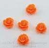 Кабошон акриловый цветочек цвет - темно-оранжевый 10х6 мм, 5 штук ()
