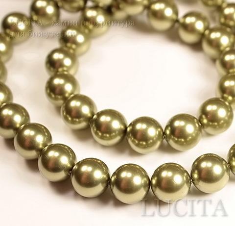 5810 Хрустальный жемчуг Сваровски Crystal Light Green круглый 4 мм,  10 штук