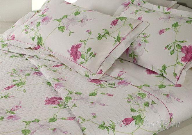 Комплекты Постельное белье 1.5 спальное Mirabello Hibiscus белое с темно-розовыми цветами elitnoe-postelnoe-belie-HIBISCUS-mirabello-new.jpg