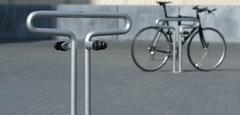 Пример монтажа велосипедной парковки Berliner