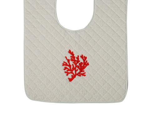 Элитный коврик для унитаза Corallo бежевый с коралловой вышивкой от Old Florence