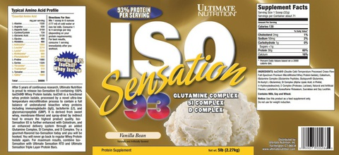 Ultimate Nutrition Iso Sensation 2270 гр / 5lb / 2.27 кг