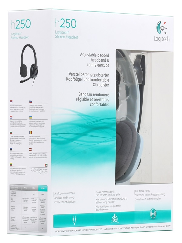 LOGITECH H250 Stereo Headset Ice Blue