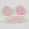 Кабошон овальный Кварц розовый (прессов), 30х15 мм