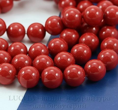 5810 Хрустальный жемчуг Сваровски Crystal Red Coral круглый 6 мм, 5 штук (Crystal Red Coral 2)