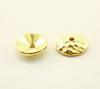 "Шапочка для бусины TierraCast ""Hammertone"" (цвет-золото) 9х2,5 мм"