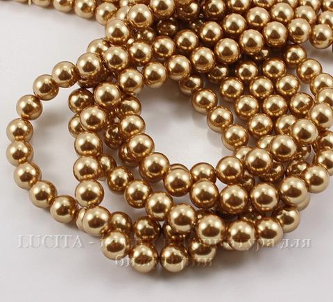 5810 Хрустальный жемчуг Сваровски Crystal Bright Gold круглый 10 мм