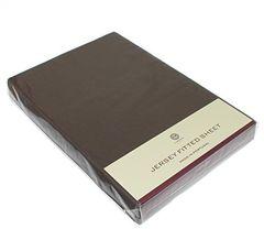 Элитная простыня (Т) Трикотаж Джерси коричневая от Luxberry