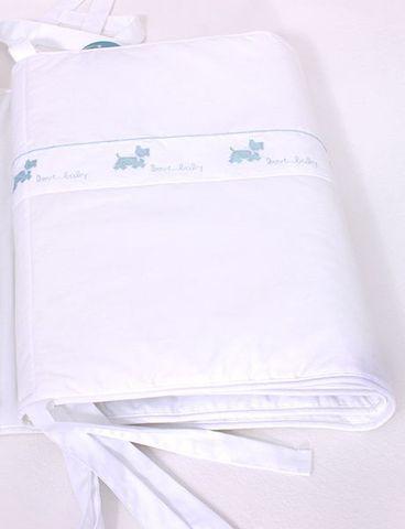 Бампер для детской кроватки Собачки белый от Bovi