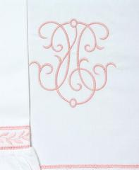 Детское постельное белье Bovi Вензель Бело-розовое