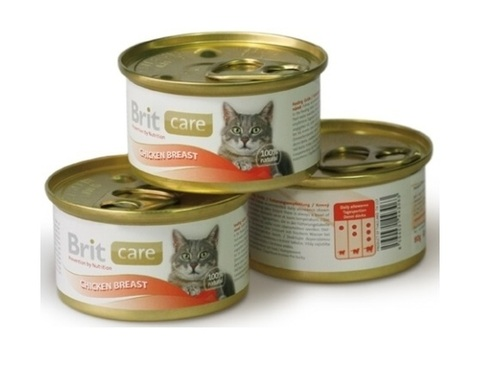 Brit Care with chicken breast for cat