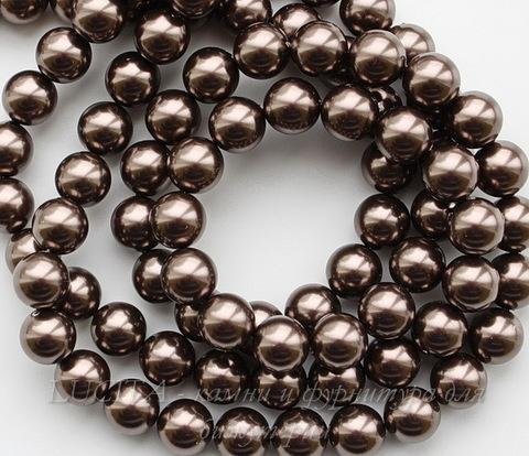 5810 Хрустальный жемчуг Сваровски Crystal Brown круглый 8 мм , 5 шт (Crystal Brown 1)