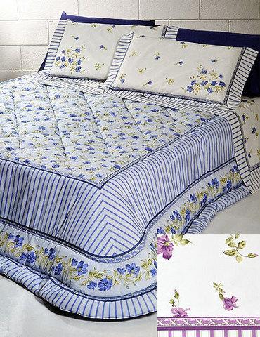 Постельное белье 2 спальное Cassera Casa Savoy голубое